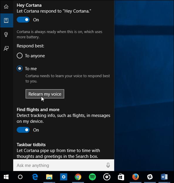 Learn my Voice Hey Cortana