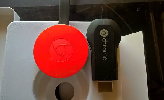 New Chromecast and old one