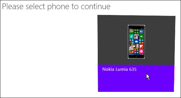 Restore Windows Phone