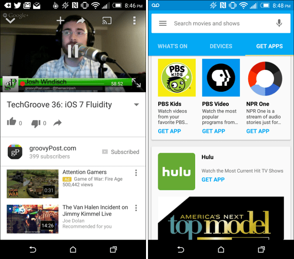 Using Chromecast on Android