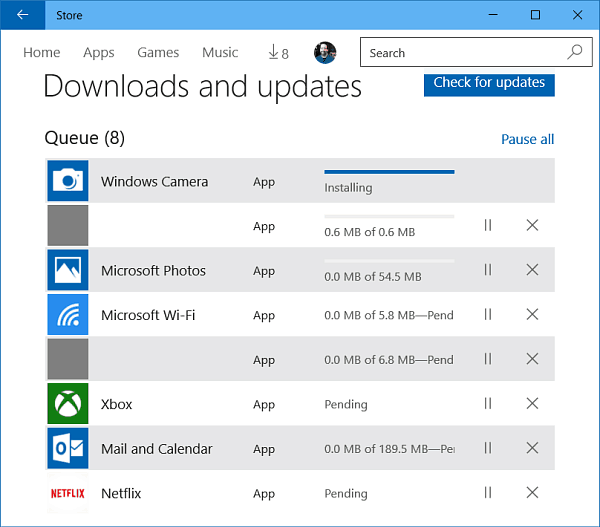 Windows 10 App Updates