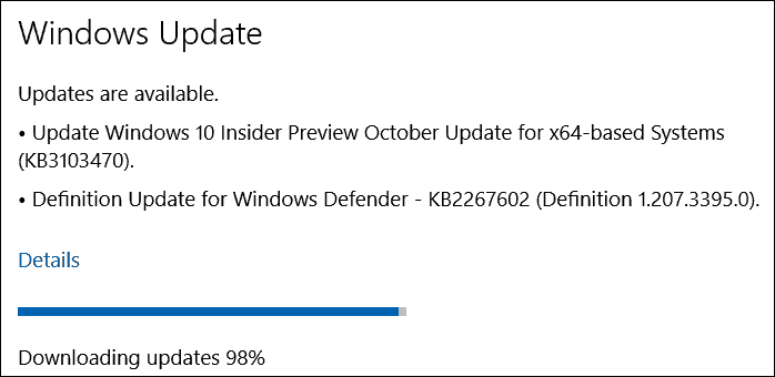Windows 10 Preview October update