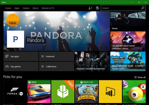 Windows Store Redesign