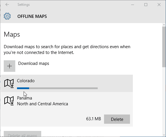 downloading maps