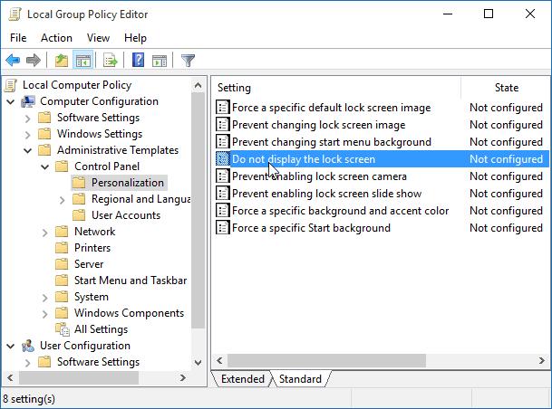 Set Lock Screen Picture Windows 10 Gpo