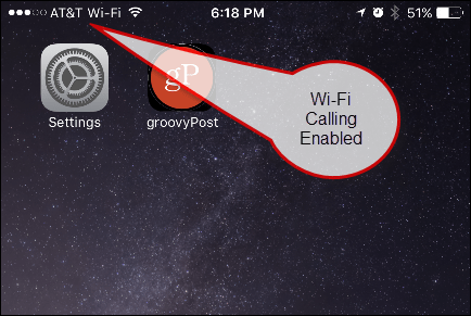 Wi-Fi Calling Enabled Display