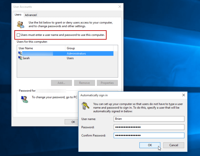 How To Automatically Log Into Windows 10