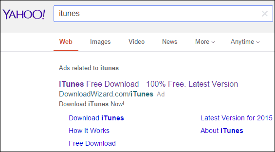 yahoo itunes search