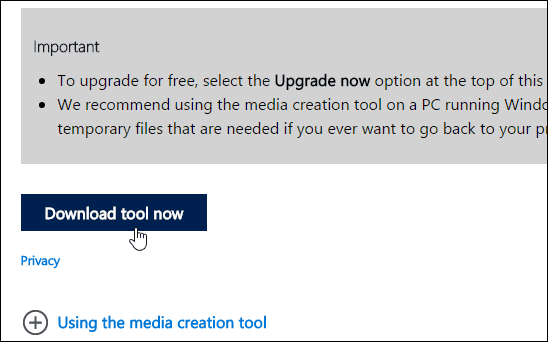 1 Download Media Creation Tool