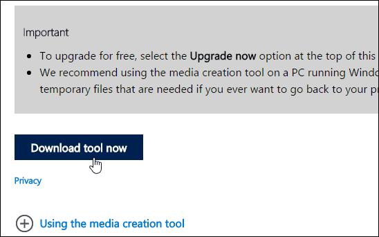 1 Download Media Creation Tool