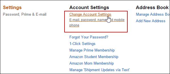 2 Change Account Settings