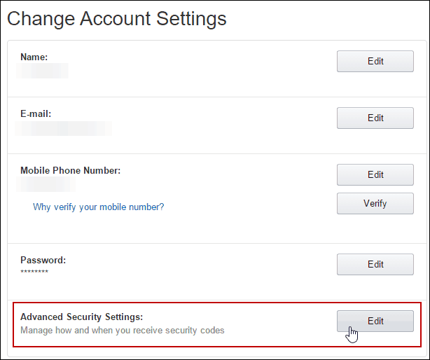 3 Advanced Security Settings