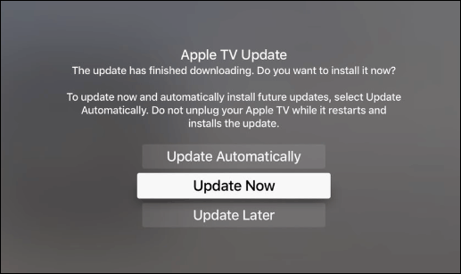 apple tv set date and time manually