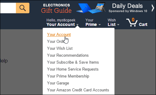 Amazon Your Account