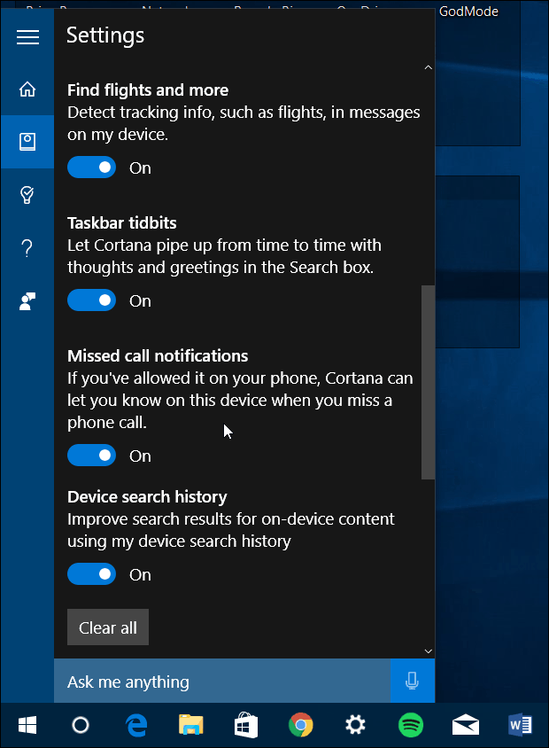 Cortana Improvements