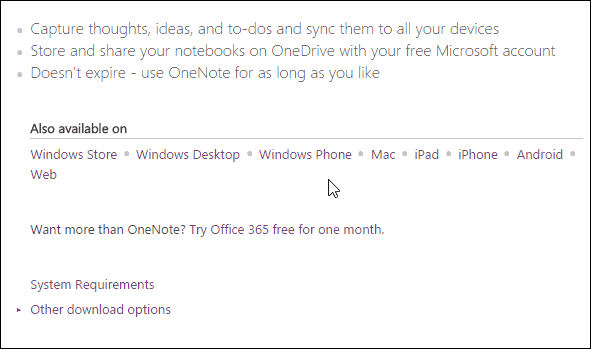 Download OneNote
