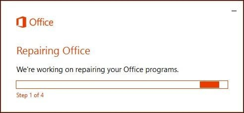 Office 365 repair 6