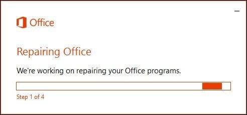 Office 365 repair 6