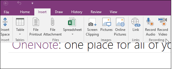 How to Record Audio and or Video with Microsoft OneNote