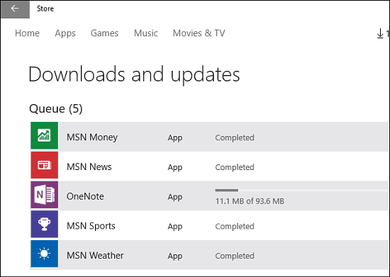 Universal App Updates