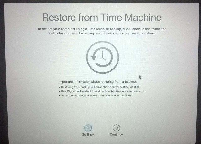 Restore Mac