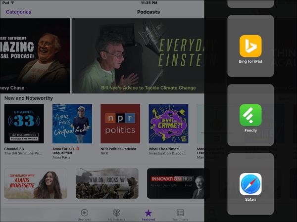 iPad iOS 9
