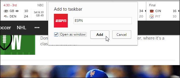 name and add to Taskbar