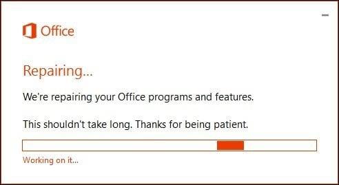 office 365 repair 3