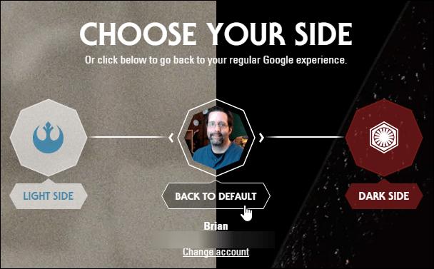 Google Star Wars Theme Default