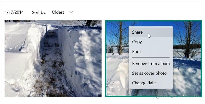 Share from Photos App Windows 10