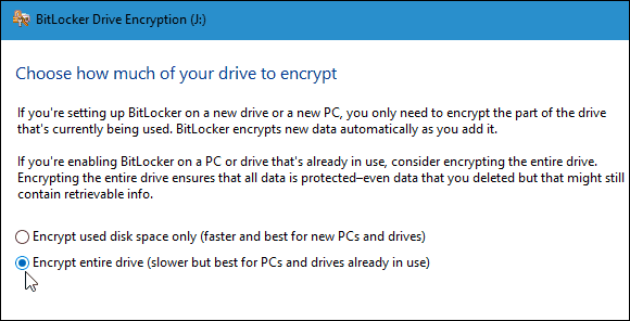 encrypt drive full