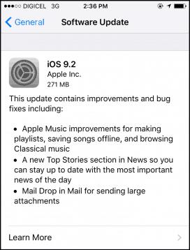 ios 9-2 iPhone
