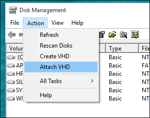 How to Attach and Copy files from a VHD in Windows 10