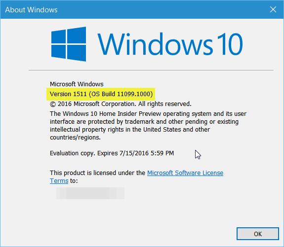 11099 Windows 10 Build