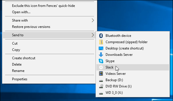 4 Added locations Windows 10 Send to