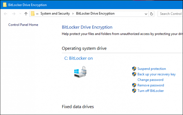 BitLocker On