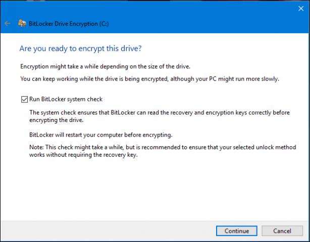 BitLocker setup 6