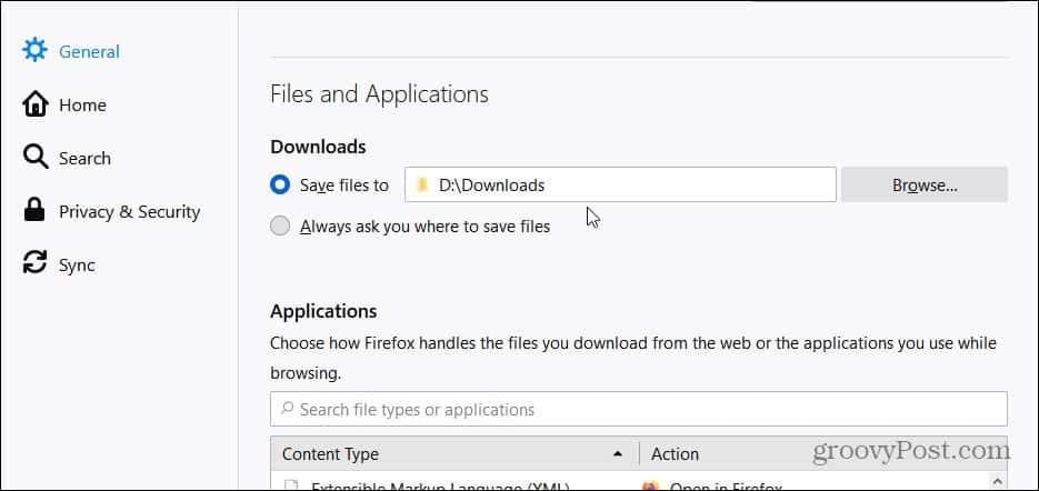 Firefox downloads