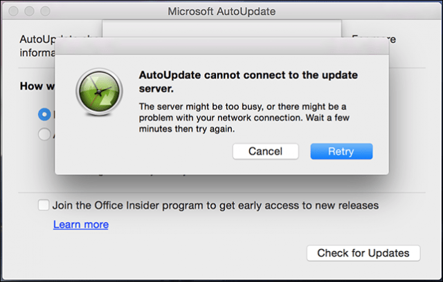 How to Fix Microsoft Office AutoUpdate for Mac not working
