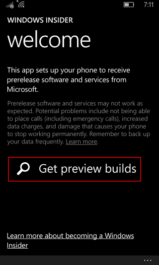 Get Preview build