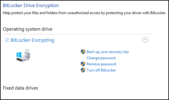 Manage BitLocker 2