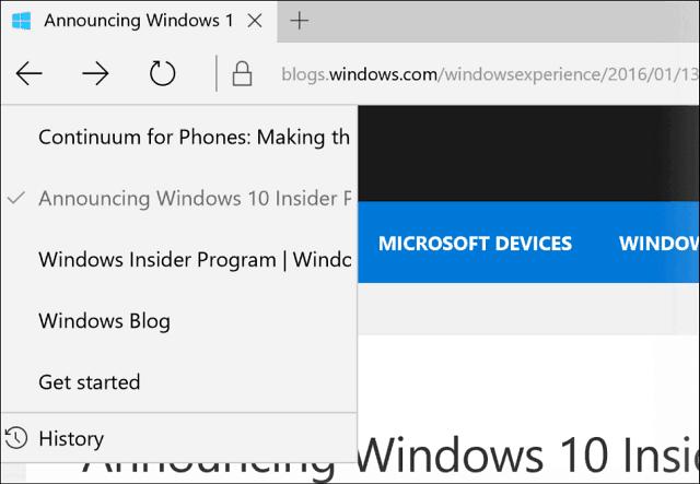 Microsoft Edge Histroy View
