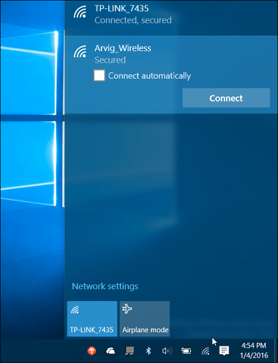 Network Windows 10