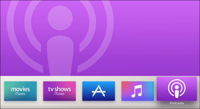 Podcasts New Apple TV