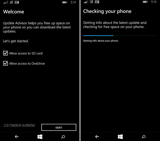 Update Advisor windows phone