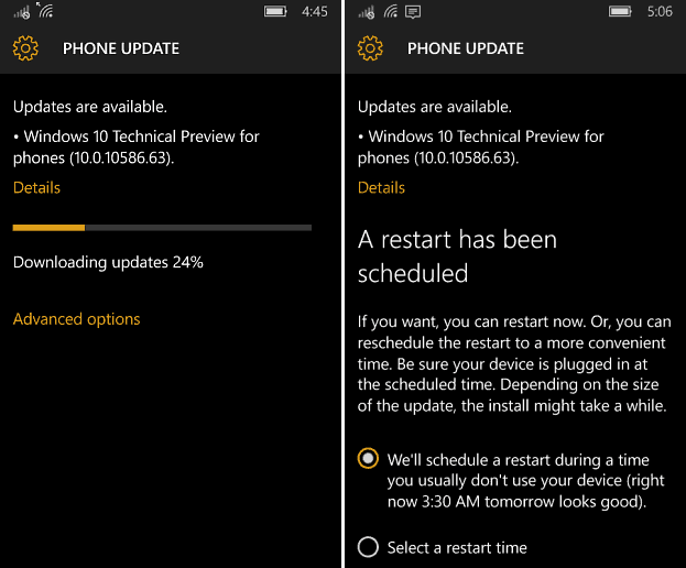 Windows 10 Mobile Build 10586-63