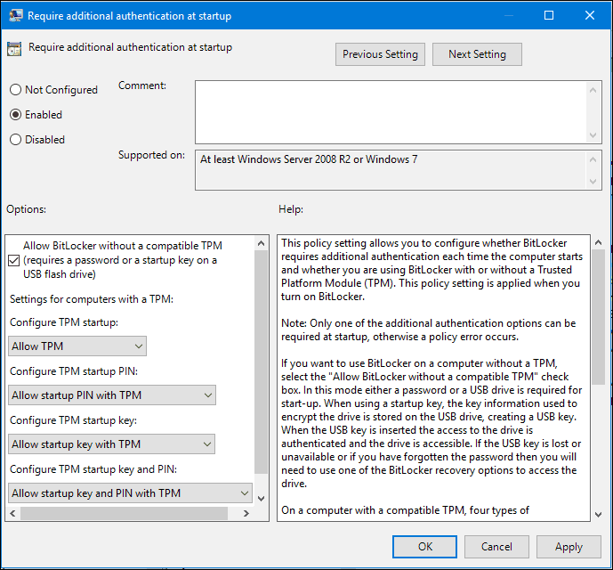 Workaround BitLocker 4