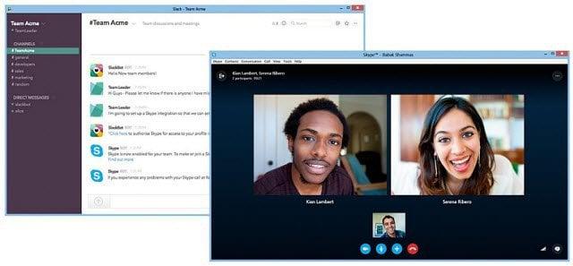 slack and skype integration