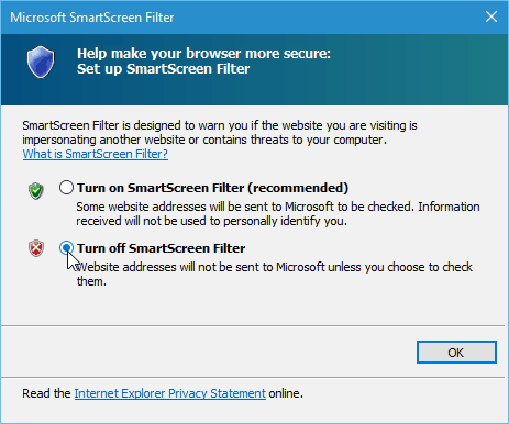 How to Turn Off SmartScreen Filter in Windows 10