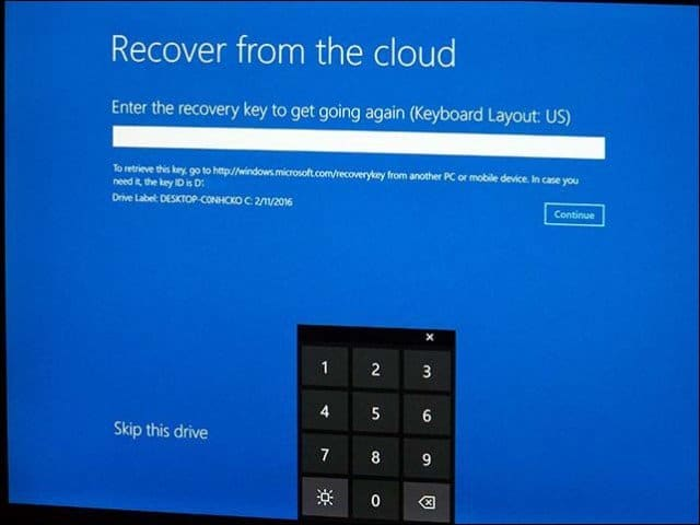 Use Recover from the Cloud to Reinstall Windows 10 on